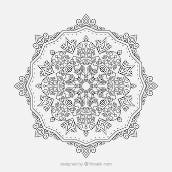 Lineal mandala design