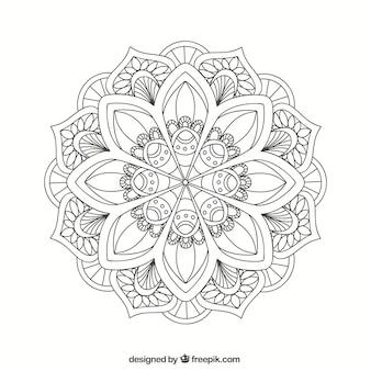 Lineal mandala hintergrund
