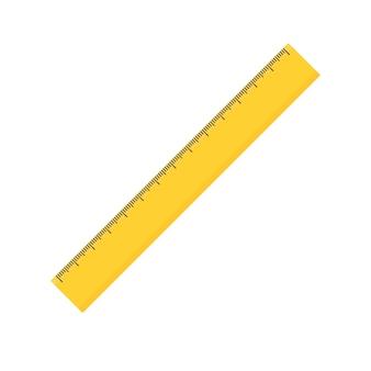 Lineal-symbol. flacher stil