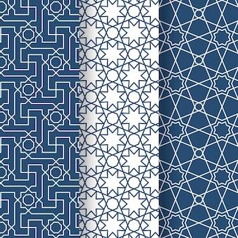 Lineare arabische mustersammlung des flachen entwurfs