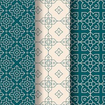 Lineare arabische mustersammlung