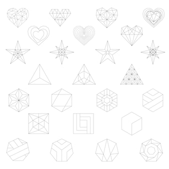 Lineare darstellung von geometrischen formen