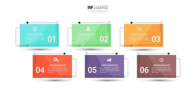 Lineare flache infografik-vorlage