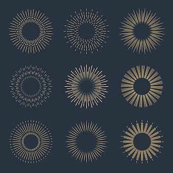 Lineare flache sunburst-kollektion
