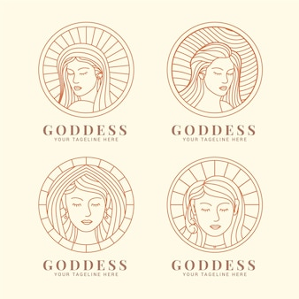 Lineare göttin logo vorlagen