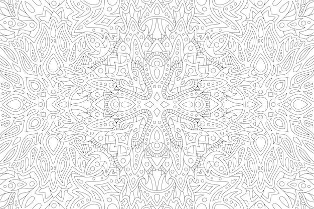 Lineare kunst für malbuch mit muster
