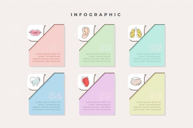 Lineare medizinische infografiken