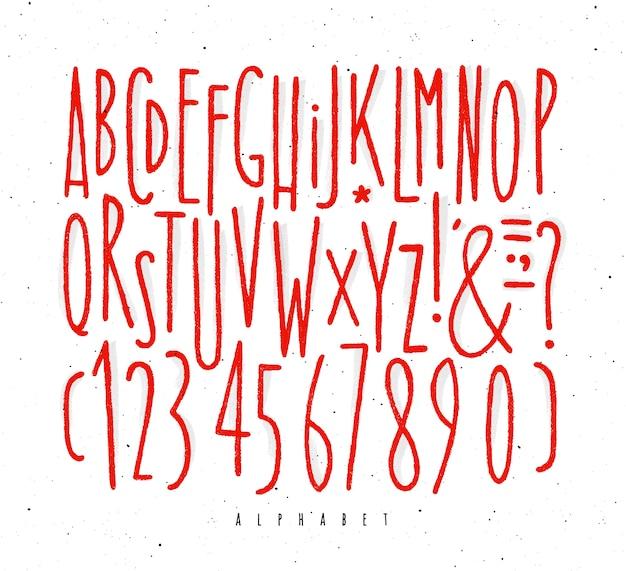 Lineare schriftart des alphabetes gerade