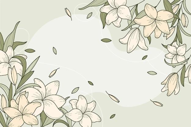 Linearer floraler designhintergrund