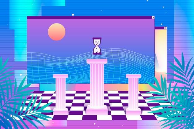 Linearer vaporware-hintergrund