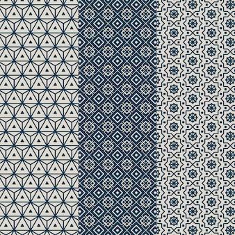 Lineares arabisches musterpaket