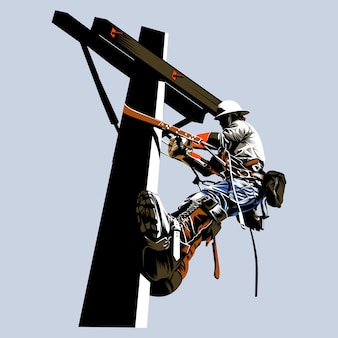 Lineman-vektor-illustration