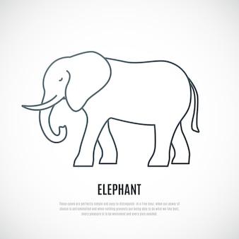 Liner-elefant-symbol