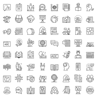 Linguist icons set