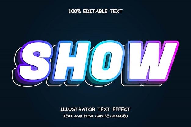 Linie, 3d bearbeitbarer texteffekt moderner neonstil