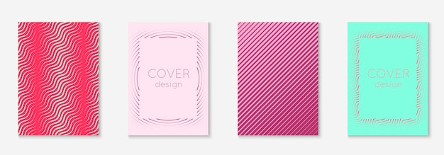 Linie geometrische elemente. rot und grün. dynamischer mobiler bildschirm, banner, patent, tapetenkonzept. linie geometrische elemente auf minimalistischer trendiger cover-vorlage.