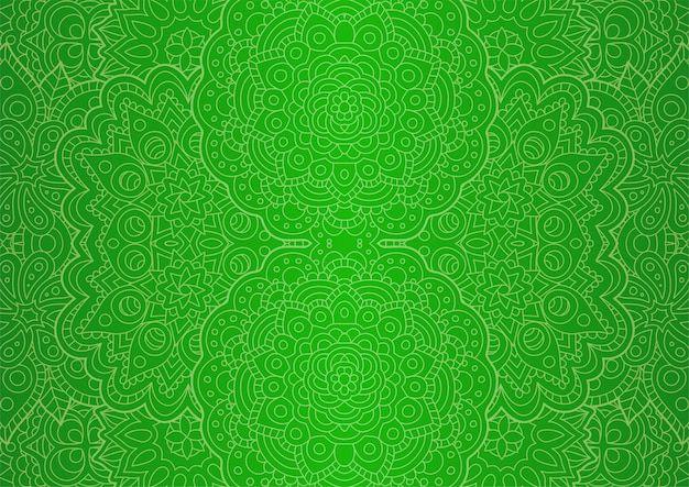 Linie kunst mit grünem nahtlosem ostmuster