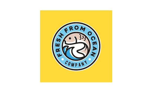 Linie kunst poke bar logo design inspiration
