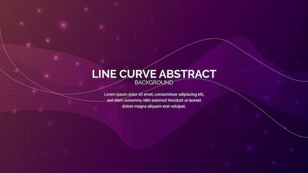 Linie kurven-zusammenfassungs-hintergrund-fahne
