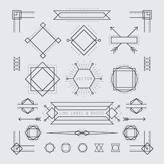 Linie und geometrischer rahmen, rand, ecke