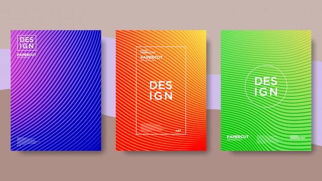 Linie, welle, farbverlauf, abstrakter und moderner hintergrund