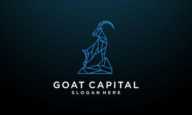 Linie ziege logo design