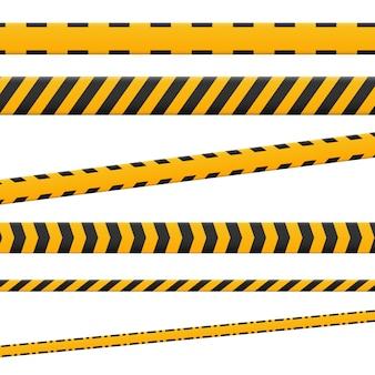 Linien isoliert. warnbänder. vorsicht. achtung