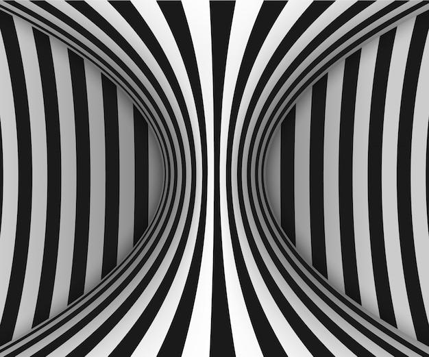 Linien optische täuschung