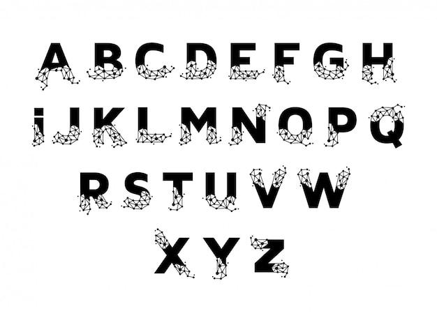 Linienanschluss alphabet