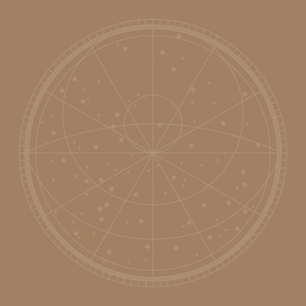 Linienkonstellationskarte vektorhintergrund in braun