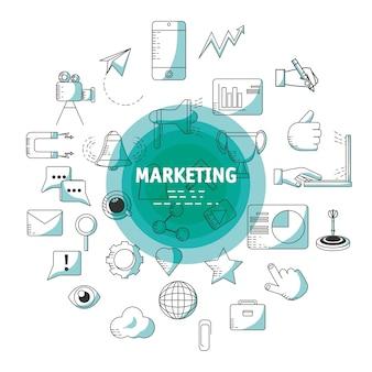 Linienmarketing-strategieplanungskonzept
