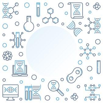 Linienrahmen biotechnik und naturwissenschaften