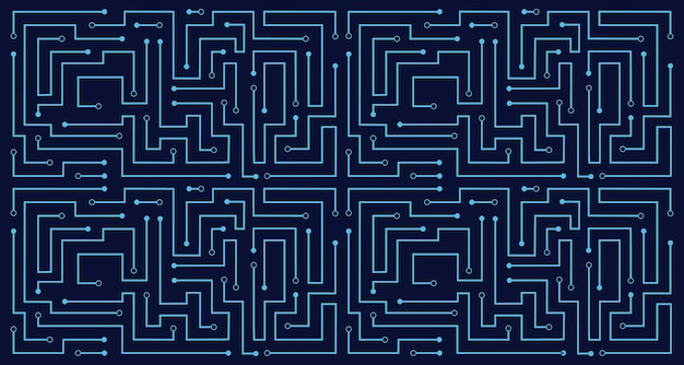 Linienschaltung abstrakter muster technologie vektor hintergrund