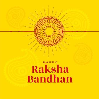 Linienstil raksha bandhan gelber hintergrund