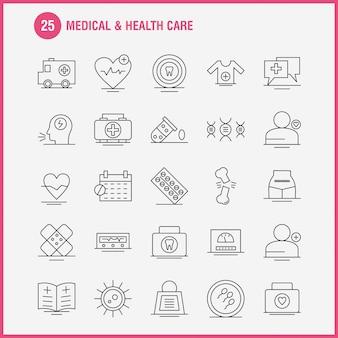 Liniensymbol für medizin und gesundheitswesen für web, print und mobile ux / ui kit.