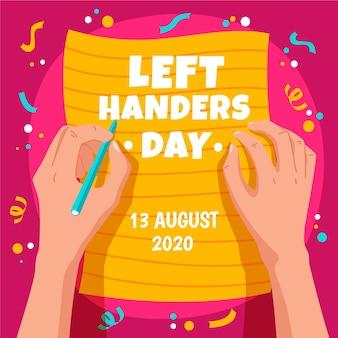 Linkshänder tag mit konfetti