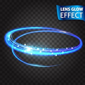 Linsenglüheffekt. neon series set von katzenkratzer. leuchtender neon-effekt. abstrakter glühender sprung, nachgemachte effektgeschwindigkeit