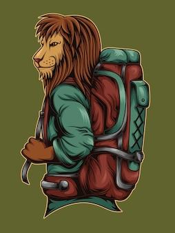 Lion backpacker