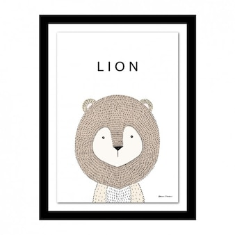 Lion design-rahmen