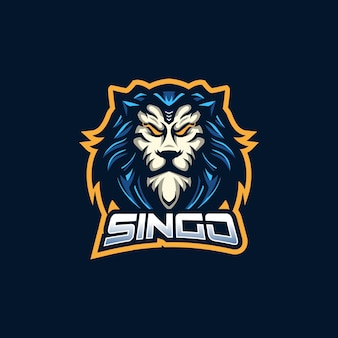 Lion esport gaming maskottchen logo vorlage