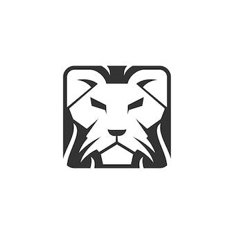 Lion head illustration emblem maskottchen design vorlage