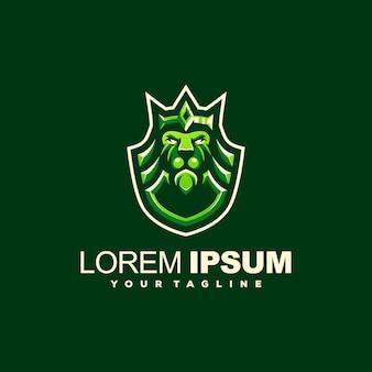 Lion king crown logo design
