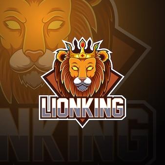 Lion king esport maskottchen-logo-design