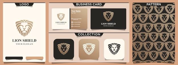 Lion king logo design element kombinieren schild