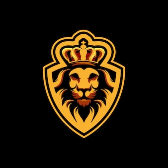 Lion king logo design premium