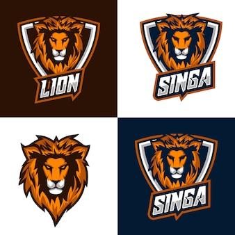 Lion logo und abzeichen