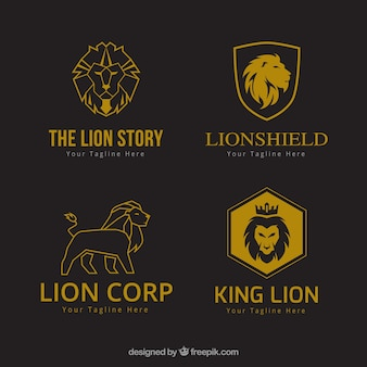 Lion logos, corporate style