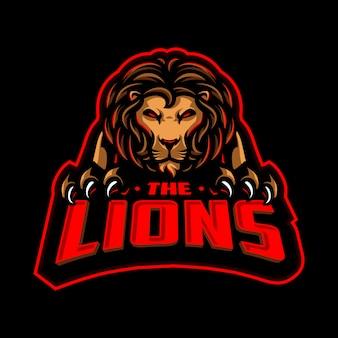 Lion maskottchen sport logo