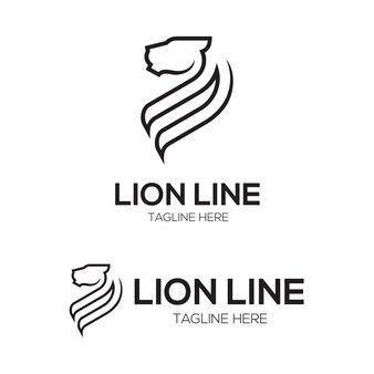 Lion vektor strichfigur