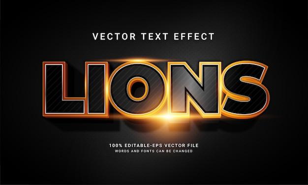 Lions bearbeitbarer textstileffekt mit tier-wildlife-thema